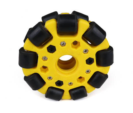 EasyMech Yellow 100mm Double Glass Fiber Omni Wheel (BEARING TYPE ROLLER) High Quality