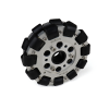 EasyMech 127mm Double Aluminium Omni Wheel basic (BUSH TYPE ROLLER)
