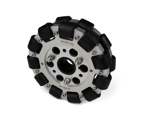 EasyMech 127mm Double Aluminium Omni Wheel basic (BUSH TYPE ROLLER)