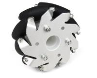 100mm Aluminium Mecanum wheels (Bearing type rollers) Right
