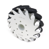 EasyMech 152mm Aluminium Mecanum wheels (Bearing type rollers) LEFT