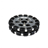 EasyMech 152mm Double Aluminium Omni Wheel Basic (Bush Type Roller)