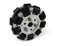 EasyMech 100mm Double Aluminium Omni Wheel (BUSH TYPE ROLLER)
