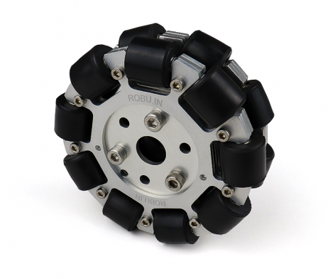 EasyMech 100mm Double Aluminium Omni Wheel (BUSH TYPE ROLLER)