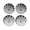 A set of EasyMech 152mm Aluminium Mecanum wheels basic (Bush type Rollers)-(4 pieces)