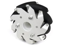 A set of 100mm Aluminium Mecanum wheels Basic (Bush type rollers)-(4 pieces)