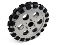 EasyMech 203mm Double Aluminium Omni Wheel (BUSH TYPE ROLLER)