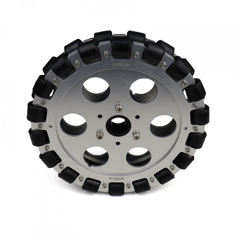 EasyMech 203mm Double Aluminium Omni Wheel (BUSH TYPE ROLLER)