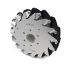 EasyMech 152mm Aluminium Mecanum wheels (Bush type rollers) RIGHT