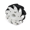 100mm Aluminium Mecanum wheels (Bush type rollers) LEFT