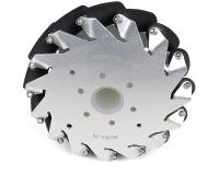 EasyMech 152mm Aluminium Mecanum wheels (Bush type rollers) LEFT