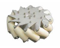 A set of 203mm Aluminium Mecanum wheels (Bearing type rollers)-(4 pcs.)