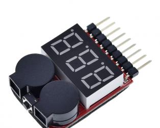 LiPo Battery Voltage Checker 1S-8S with Buzzer