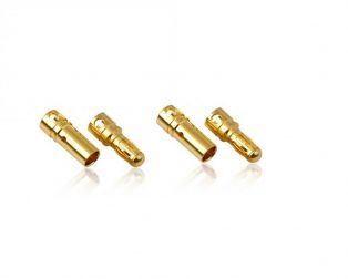 4mm Gold Connectors MaleFemale Pair-2 Pairs (4PC)