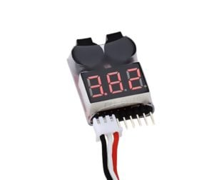 Lipo Voltage Checker 1S-8S with Buzzer Alarm -Robu.in