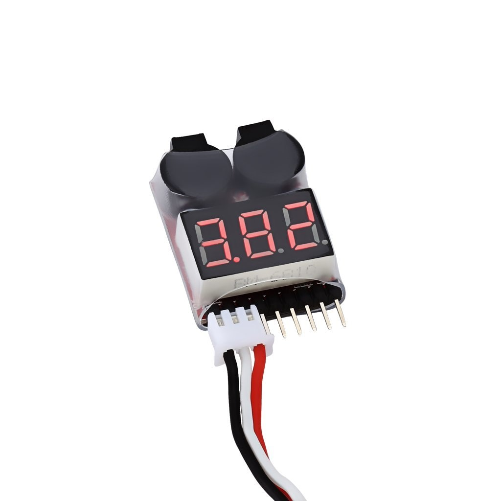 Lipo Voltage Checker 1S-8S with Buzzer Alarm -Robu.in