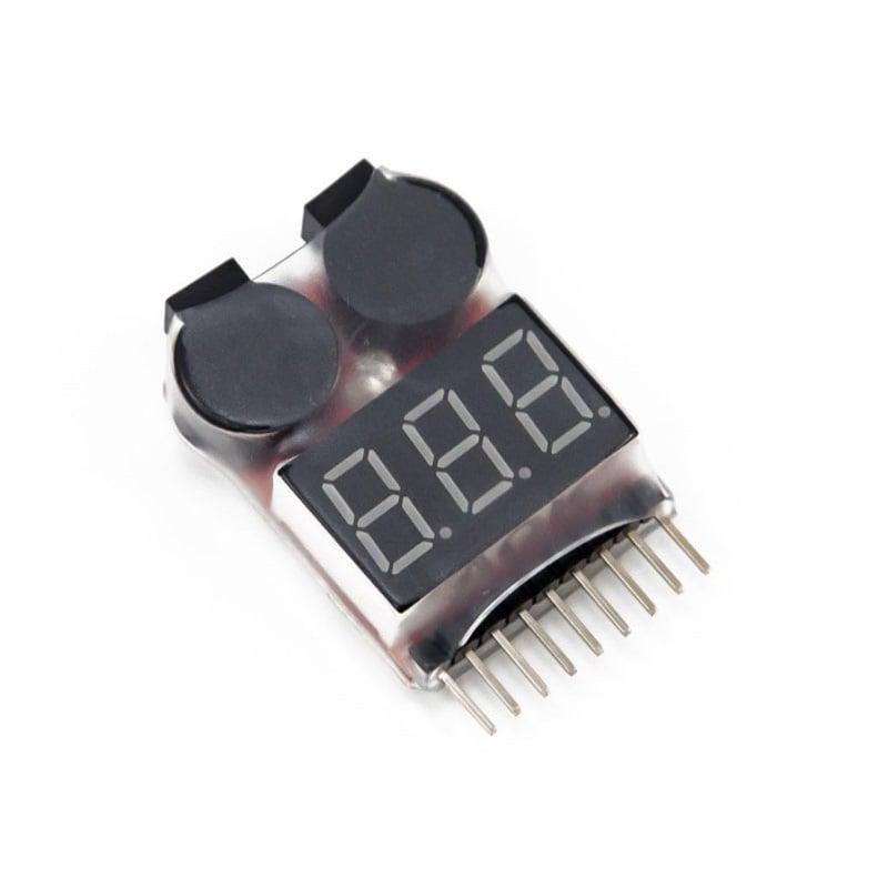 Lipo Voltage Checker 1S-8S with Buzzer Alarm- Robu.in