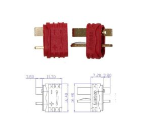 Nylon T-Connectors Male-Female Pair-2 Pcs.