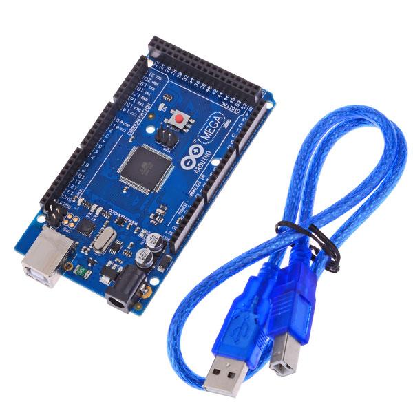 Arduino Mega 2560 ATmega2560-16AU Board plus USB Cable.