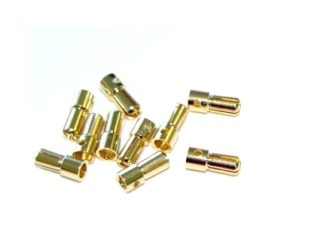 Polymax 5.5mm Gold Connectors Male-Female Pair-2 Pcs.