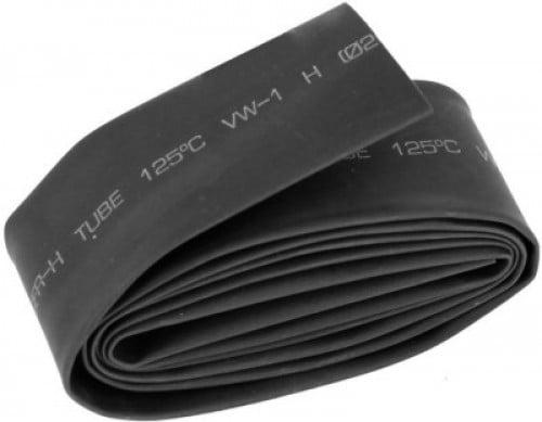 Heat Shrink Tube 100mm BLACK (1mtr) (Industrial Grade)