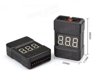 Cell Checker with Low Voltage Alarm (2S-8S) with case
