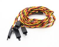 SafeConnect Twisted 45CM 22AWG Servo Lead (JR) Extention Cable with Hook - 1PCS - ROBU.IN