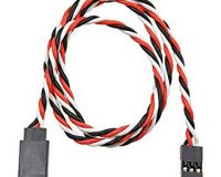 SafeConnect Twisted 45CM 22AWG Servo Lead Extention (Futaba) Cable with Hook