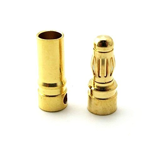 3.5mm PolyMax Gold Connectors Male/Female Pair-2 Pairs (4PC)
