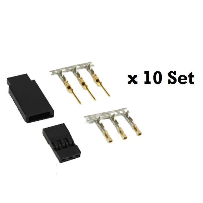 JST-SH Servo Plug Set (JR) Gold Plated-10Pcs.