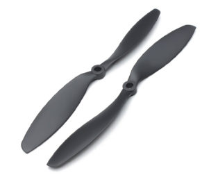 Orange HD Propellers 1045(10X4.5) ABS DJI Black 1CW+1CCW-1pair