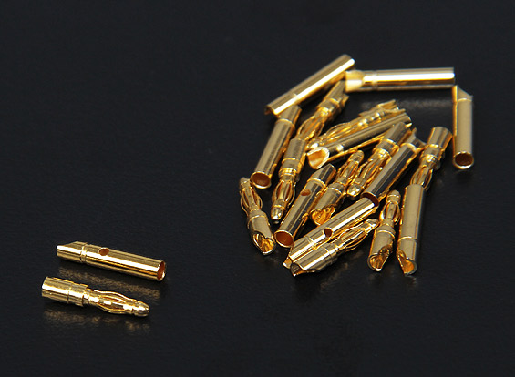 2mm Gold Connectors 1 pairs (2pc)