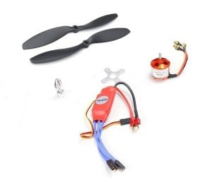 A2212 1000 KV BLDC Brushless DC Motor with SimonK 30A ESC and Orange 1045 Propeller Set