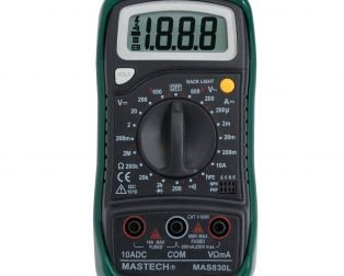 Original Mastech MAS830L Digital Multimeter - Multimeter with Probes
