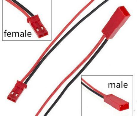 SafeConnect Female JST battery pigtail 10cm length