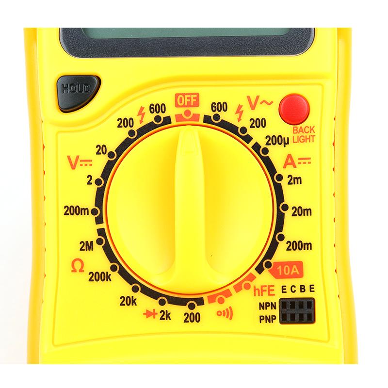 Original Mastech MAS830L Digital Multimeter - Multimeter with Probes