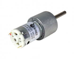 Orange 12V 20 RPM Johnson Geared DC Motor – Grade A Quality