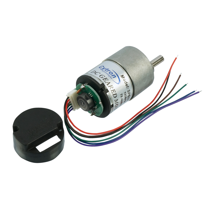 Dc geared motor with encoder 60rpm 12v spg30e 60k for Advanced dc motors inc