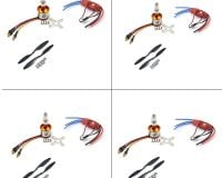 4 Set A2212 1400KV Brushless Motor + SimonK 30A ESC + 1045 Propeller Set