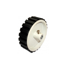 Wheels for your robot, easy to mount, durable and cheap. These wheels have a 6mm hole for shaft with screw for fitting making it very easy to mount on motors.