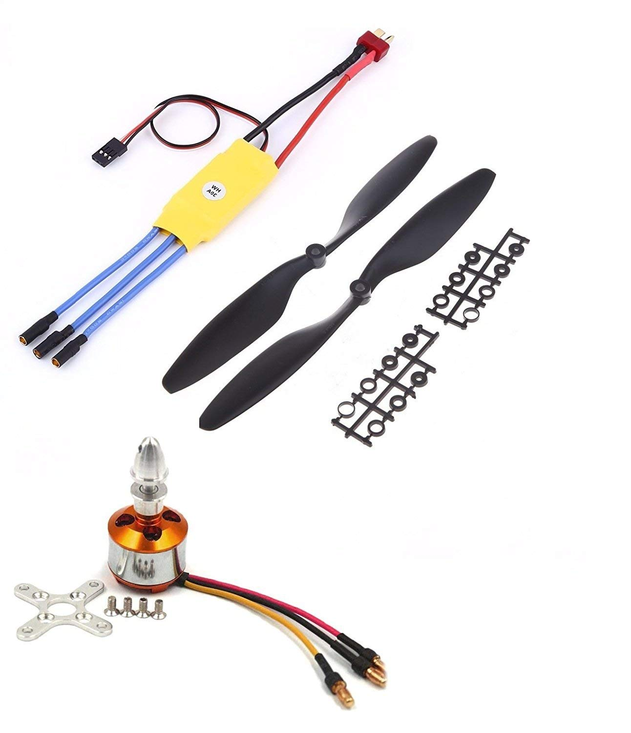 A2212 1400KV Brushless Motor for Drone with SimonK 30A ESC and 1045  Propeller Set