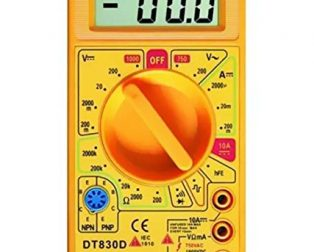 Digital Multimeter Small Yellow Color LCD AC DC Measuring Voltage Current
