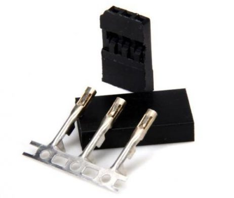 JST-SH Servo Plug Set (Futaba) Gold Plated-10pcs.