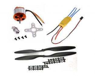 A2212 1000KV Brushless Motor + SimonK 30A ESC + 1045 Propeller Set