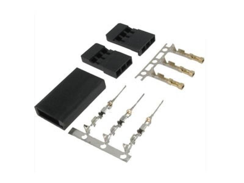JST-SH Servo Plug Set (Futaba) Gold Plated-10pcs.