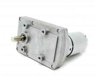 Orange Rectangular Gearbox Motor