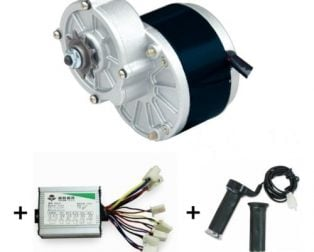 MY1016Z3 350W (GB)+ Motor Controller + Twist Throttle + Brake, DIY Electric Bicycle Kit