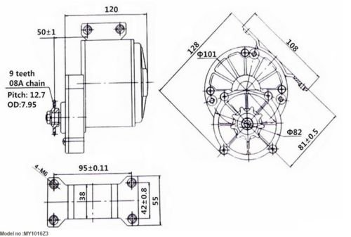 ebike my1016z3 24v 350w 324 geared dc motor (gb)