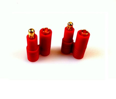 HXT 3.5mm Gold Connector with Protector Mail-Female 2-Pairs