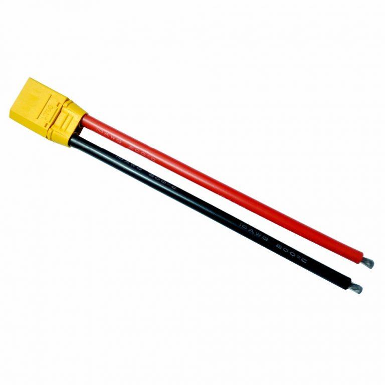 SafeConnect XT90 Plug Female 10AWG 10cm Connector (1pcs/bag)